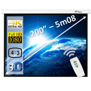 """Elektrisch projectiescherm 200"""" (4:3)"""