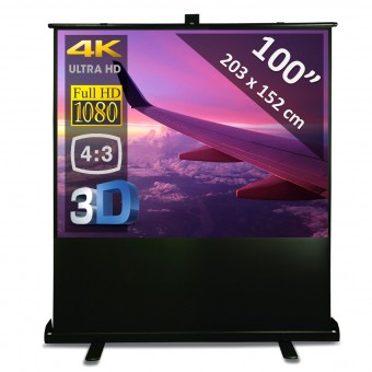 "Vloerscherm 100"" - 254 cm"